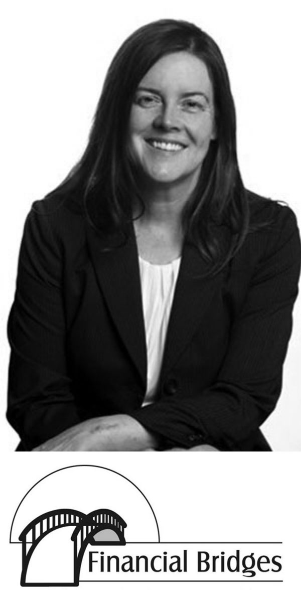 Glenda Moehlenpah photo with Financial Bridges logo